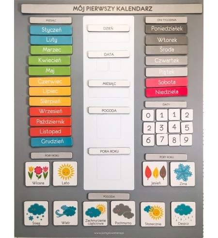 Kalendarz Pogody na folii magnetycznej